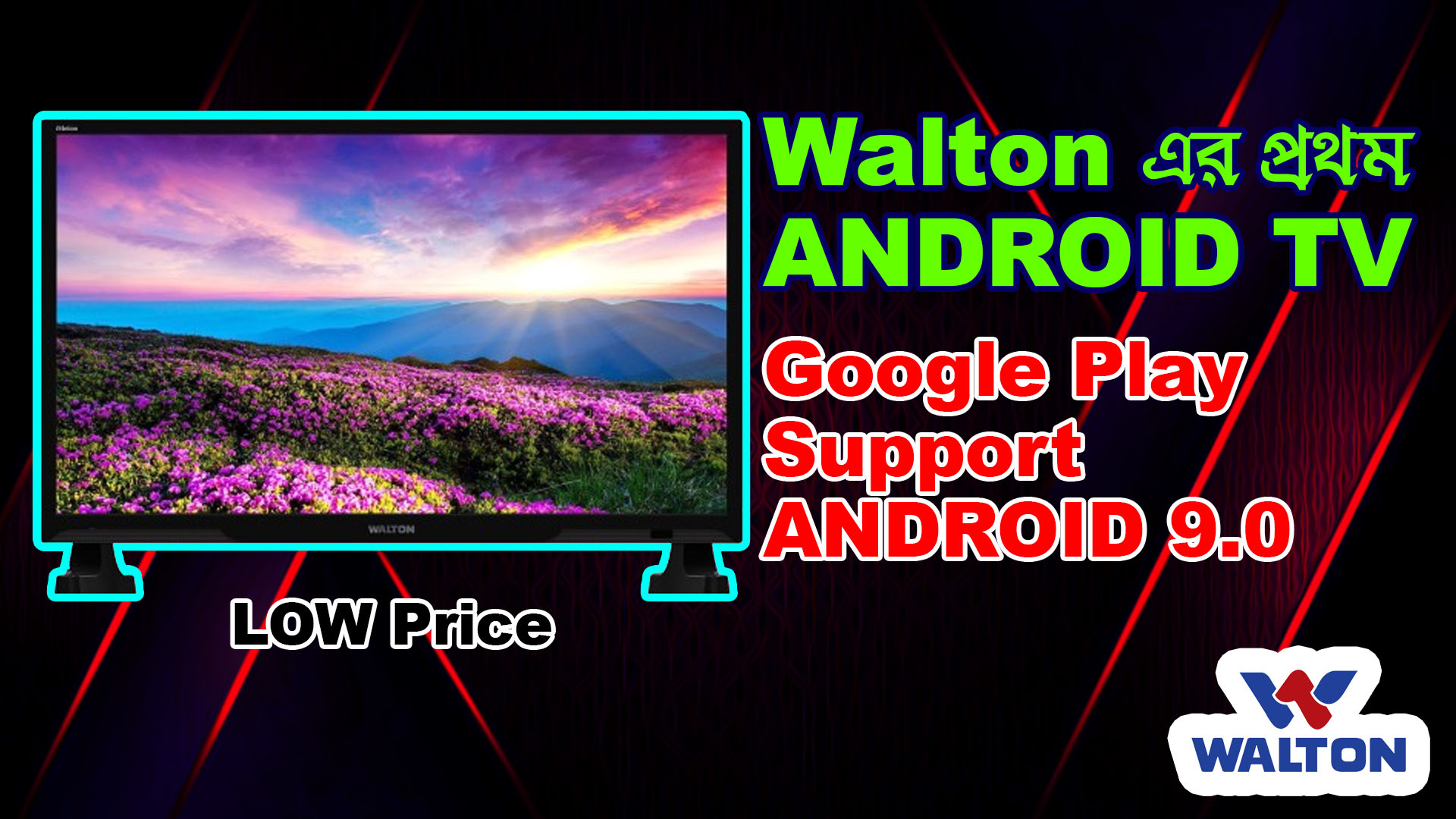 1st Walton Android TV with google Play Support