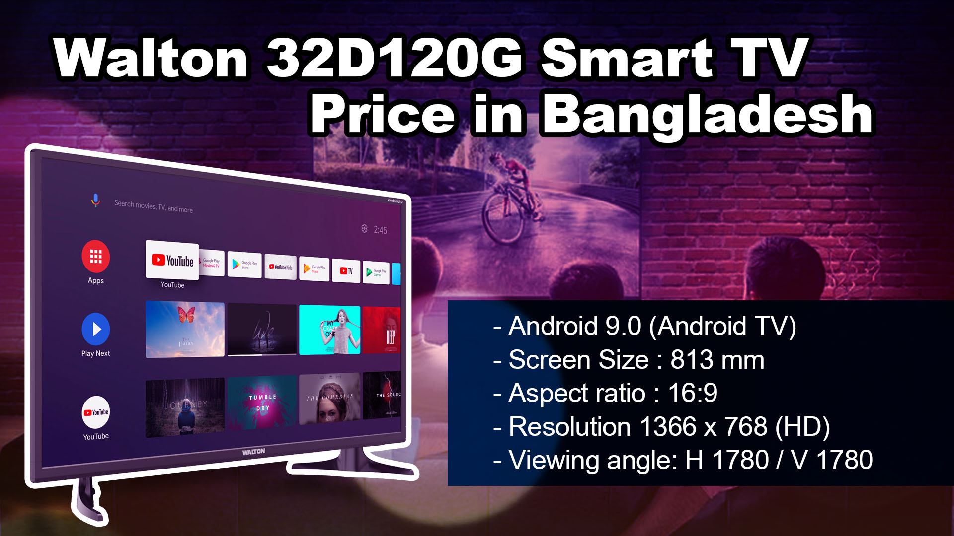Walton 32D120G Smart TV price in BD