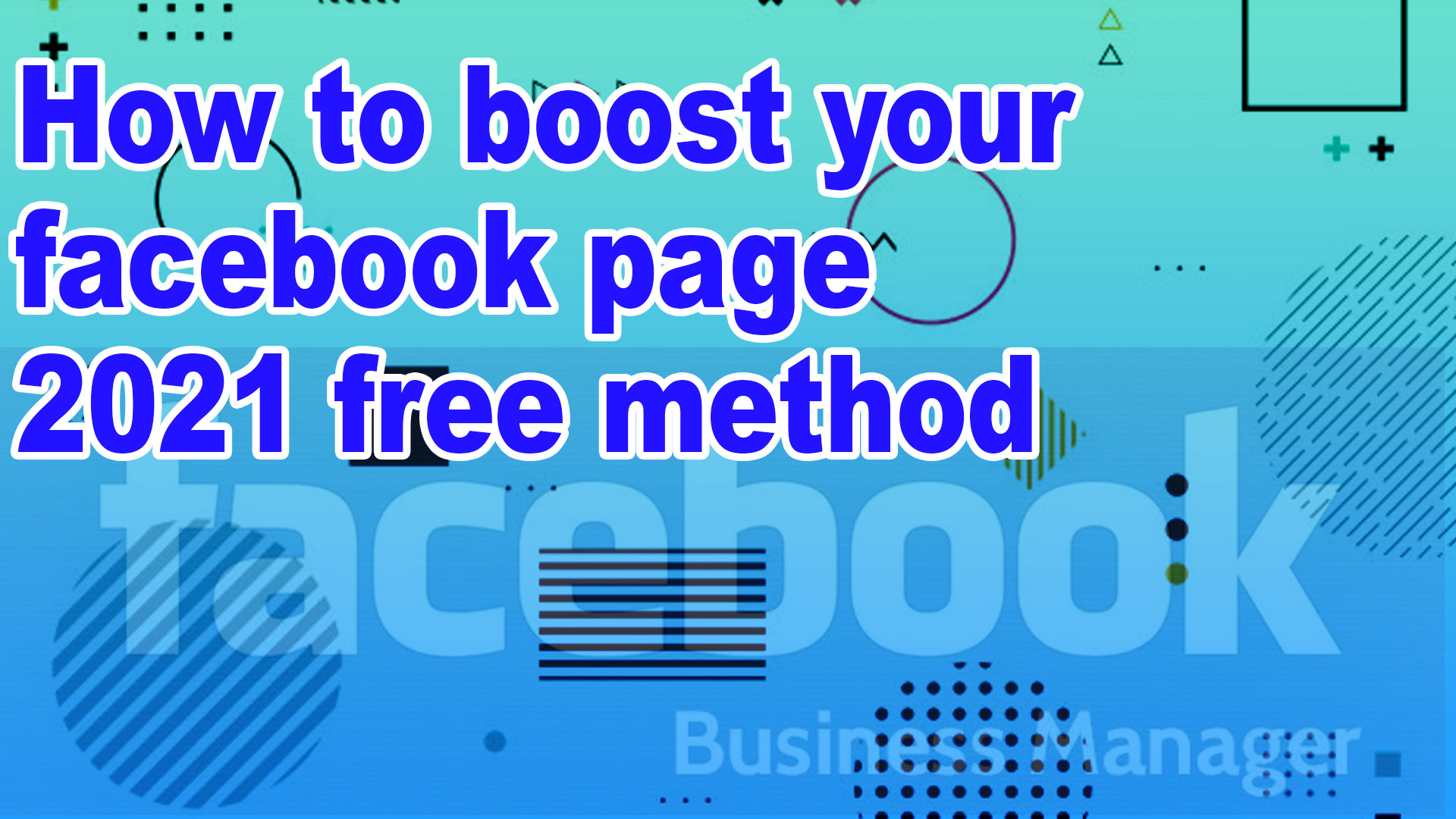 How to Free boost your Facebook Page 2021